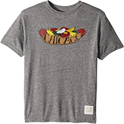 Vintage Tri-Blend Chicago Hot Dog T-Shirt (Big Kids)