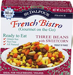 St Dalfour, Ready To Eat Three Beans Sweet Corn, 6.2 Ounce