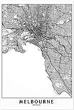 Noir Gallery Melbourne Black & White City Map 11