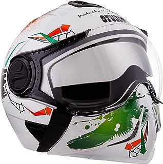 Studds Full Face Helmet Downtown D2 (White N10, L)