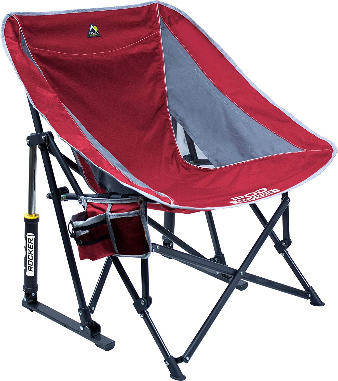 GCI Outdoor Pod Rocker Collapsible Rocking Chair, Indigo Blue: Sports & Outdoors