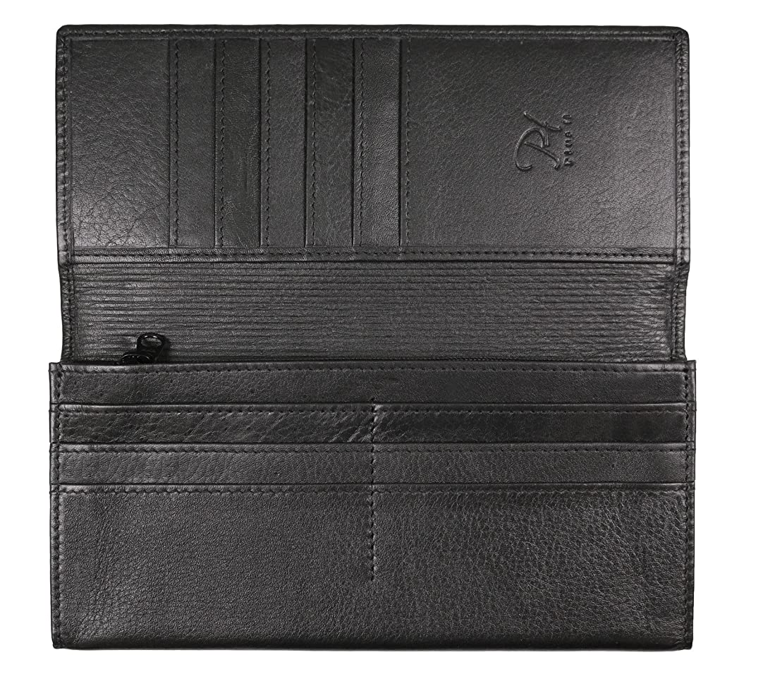 団結エレメンタルアシスタントプラスエイチ(Plus H) 長財布 メンズ バイカラー カード16枚収納 質感がいい上質な牛革 小銭入れ付き PH8150