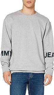 Tommy Hilfiger Essential Banded Logo Crew Felpa, Grigio (Lt Grey Htr 038), Large Uomo