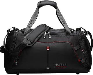 スイスRUIGOR 6407?Water Resistant Carry on Travel Duffelバッグ、スポーツジムバッグwith靴コンパートメント?–?8.5ガロン?–?32リットル