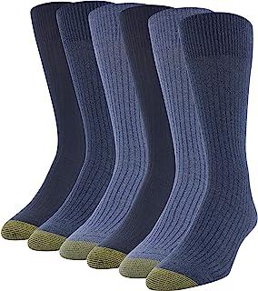 Gold Toe Men's Stanton Crew Socks, Multipairs Dress Sock (pack of 6)