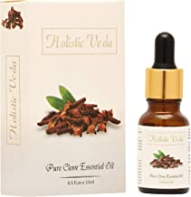 HOLISTIC VEDA Pure Clove Essential Oil Steam Distilled Natural and Pure (15 Ml) NP-01