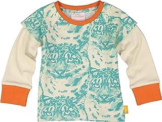 Masala Baby Organic Baby Tee Cat Camo Aqua