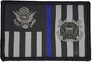 USCG Subdued Thin Blue Line Ensign - Morale Patch (Black)