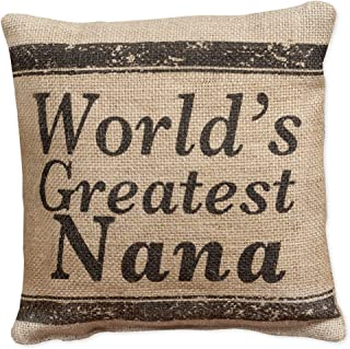 World's Greatest Nana Small Burlap Pillow 8