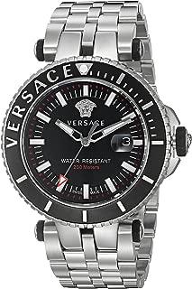 Men's 'V-Race' Swiss Quartz Stainless Steel Casual Watch, Color:Silver-Toned (Model: VAK030016)