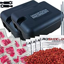 Roshield 2 x External Rat & Mouse Killer Control Rodent Poison Kit - Ready to Bait & Safe Around Children & Pets