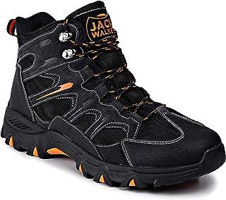 Jack Walker Bottes de Marche imperméables légères et Respirantes Cuir Chaussures pour la randonnée et Les Trek JW7255