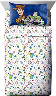 Jay Franco Disney Toy Story Buzz & Woody Twin Sheet Set - 3 Piece Set Super Soft and Cozy Kid's Bedding - Fade Resistant M...