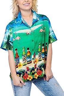 Women's Hawaiian Blouse Shirt Swim Short Sleeves Loose Fit 3D Printed