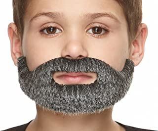 Mustaches Fake Beard Self Adhesive Costume Accessory for Kids Small Morman False Facial Hair Novelty