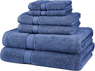Pinzon 6 Piece Blended Egyptian Cotton Bath Towel Set - Wedgewood