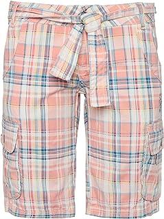 98270c07ca2cde Sublevel Damen Bermuda-Shorts   Karierte Kurze Hose aus Reiner Baumwolle