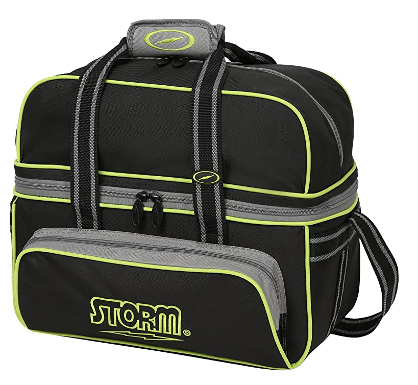 Storm 2 Ball Deluxe Tote Bowling Bag- Black/Gray/Lime