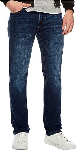 Liverpool - Slim Straight Stretch Denim Jeans in Marina Dark