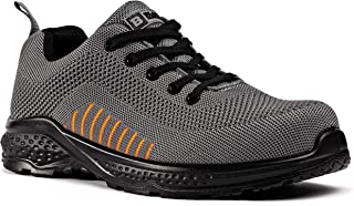 Black Hammer Mens Safety Trainers flynit Non Metal Free S1P SRC Ultra Lightweight Composite Toe Cap Kevlar Midsole Non Met...
