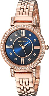 Women's Swarovski Crystal Accented Rose Gold-Tone Bracelet Watch