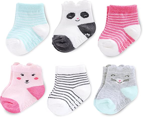 Kensie Baby Girls/' 6-Pack Quarter Crew Socks