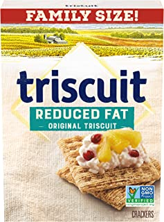 Triscuit Reduced Fat Crackers, Non-GMO - Family Size, 11.5 Ounce (Pack of 12)