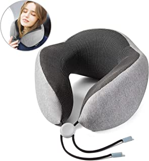 RENOOK Travel Pillow, 100% Pure Memory Foam Neck Pillow, Comfortable&Lightweight, Breathable and Improved Support Design, ...