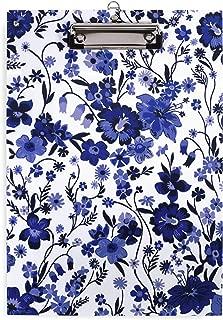 Vera Bradley Plastic Clipboard for Letter Size Paper, Moonlight Garden Tonal