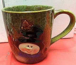 Burton and Burton Ceramic Marbleized Holiday Winter Snowman Mug, Multicolor, One Pack, 18 ounces
