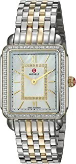 Women's Deco II Two-Tone Stainless-Steel Swiss-Quartz Watch Strap, 16 (Model: MWW06I000004)