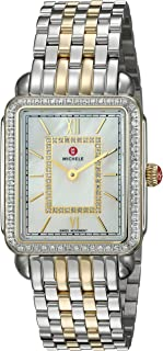 MICHELE Women's Deco II Two-Tone Stainless-Steel Swiss-Quartz Watch with Strap, 16 (Model: MWW06I000004)