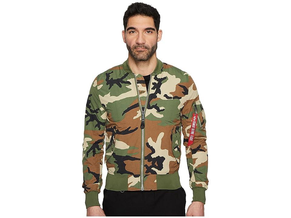 Image of Alpha Industries L-2B Dragonfly Blood Chit Jacket (Light Woodland Camo) Men's Coat
