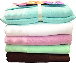 100% Organic Egyptian Cotton Bath Towel Set  Luxury Spa-Hotel Grade Face/Body/Hand Elegant Durable Quality Highly Absorbent, Premium Bath Linen  Stylish Oversized Eco-Friendly for Gift, Ice Blue Towel