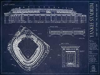 Ballpark Blueprints Yankee Stadium Print