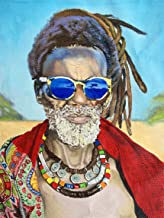 Darmeng DIY 5D Diamond Painting African American, African Man Full Drill Paint with Diamonds Art by Number Kits Cross Stit...