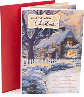 Hallmark Thomas Kinkade Christmas Card (Snow Cabin)