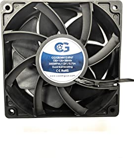 Coolerguys 120mm (120X120X38) High Airflow Waterproof IP67 12v Fan
