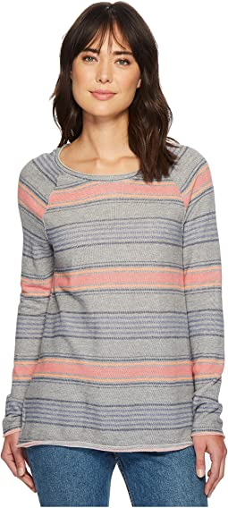 Dylan by True Grit - Maritime Yarn-Dye Stripe Long Sleeve Raglan Sweatshirt