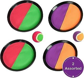 Wowow Toys & Games Catch Ball Set – 2 Colores Surtidos | Jardín al Aire Libre Familia diversión para niños Adultos niños y niñas