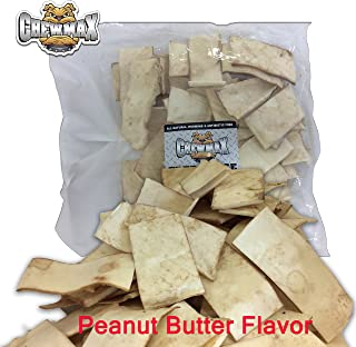 ChewMax 2 Lb Bag of Premium Peanut Butter Flavored Free Range Rawhide Chips