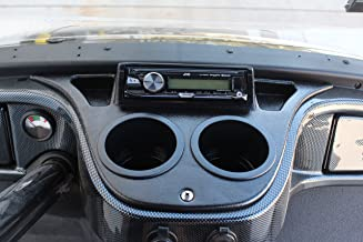 Yamaha Drive Golf Cart Black Dash Mount Radio Console w/Stereo & Speakers