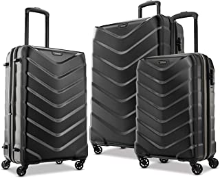 Arrow Expandable Hardside Luggage, Black, 3-Piece Set...