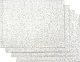 Lenox Opal Innocence Set of 4 Placemats, Platinum