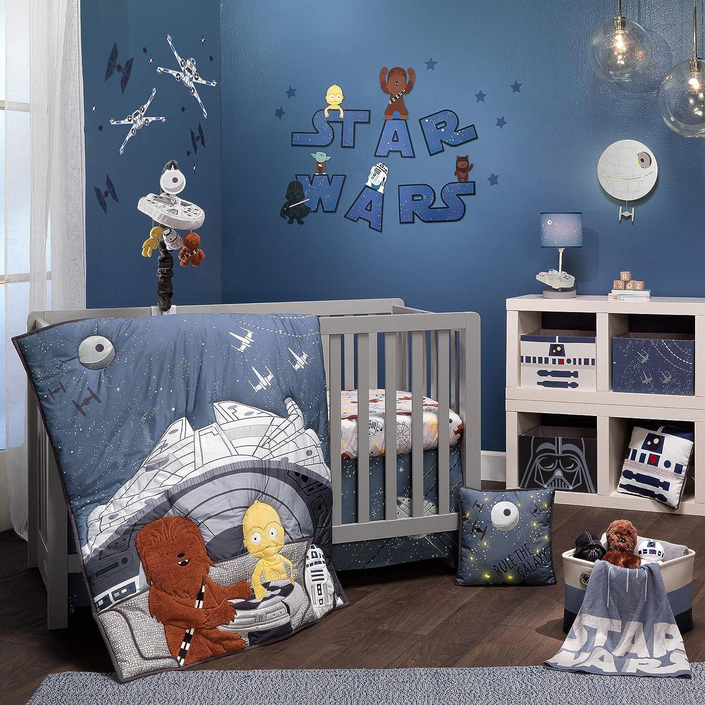 Lambs & Ivy Star Wars Signature Millennium Falcon 4-Piece Baby Crib Bedding Set