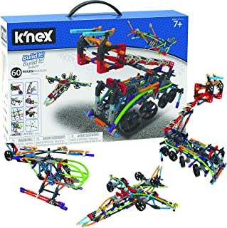 K'nex Intermediate 60 Model Building Set - 395 Parts - Ages 7 & Up - Creative Building Toy, Multicolor