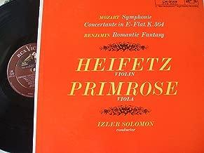 HEIFETZ & PRIMROSE- MOZART- SYMPHONIE CONCERTANTE K.364- BENJAMIN