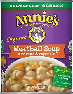 Annie's Homegrown Meatball Soup With Pasta & Vegetables (Pack Of 8)