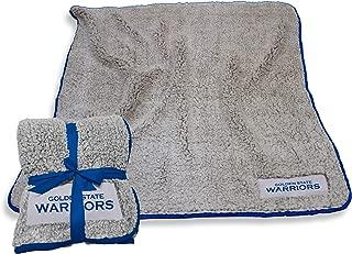 Logo Brands NBA Golden State Warriors Frosty Fleece Throw, Royal, One Size