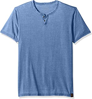 Lucky Brand Men's Venice Burnout Notch Neck Tee Shirt
